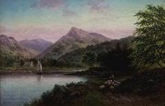 """""""Near Brodick, the Isle of Arran"""", figurative landscape, original oil on canvas"""