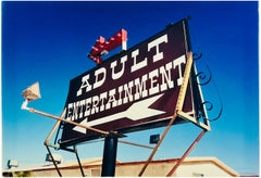 Adult Entertainment, Beatty, Navada - Americana Sign, Color Photography