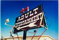 Adult Entertainment, Beatty, Navada - Americana Sign, Color Photography