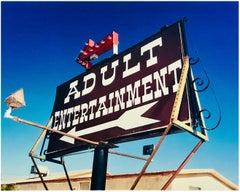 Adult Entertainment, Beatty, Nevada - Americana pop art color photography