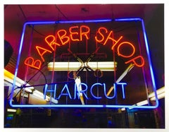 Barber Shop, New York - Neon Color Street Photography
