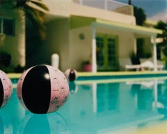 Beach Ball - Ballantines Movie Colony, Palm Springs, California - Color Photo