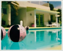 Beach Ball, Ballantines Movie Colony, Palm Springs, California - Color Photo