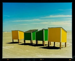 Beach Lockers, Wildwood, New Jersey - American Coastal Color Photography