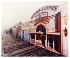 Boardwalk Empire in the Mist, Atlantic City, New Jersey - American Color Photo