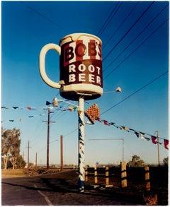 Bob's Root Beer, Fallon, Nevada - Mid-century American color photography