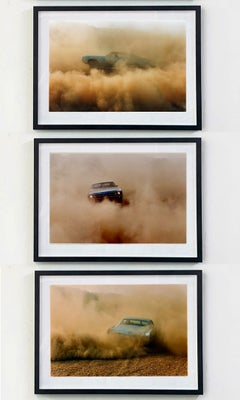 Buick in the Dust, Hemsby, Norfolk - Color Photography Triptych