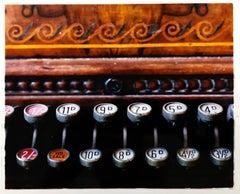 Cash Register, Stockton-on-Tees - Vintage carved wood register color photography
