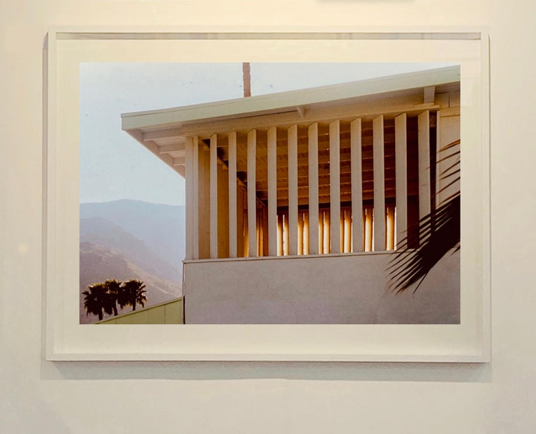 Colony at Dusk, Palm Springs, California - Mid-Century Architecture Photography - Brown Color Photograph by Richard Heeps