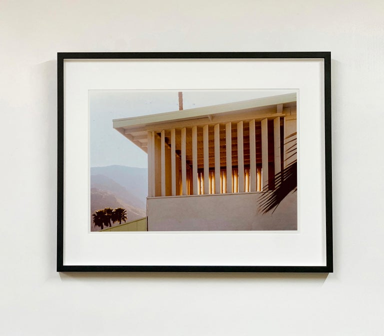 Colony at Dusk, architecture photography by Richard Heeps for his 'Dream in Colour' series, this piece features the mid-century architecture of Ballantines Movie Colony, California, captured at dusk against the Palm Springs mountainous