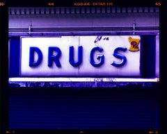 Drugs, New York - Contemporary Typography Sign Pop Art Color Photography
