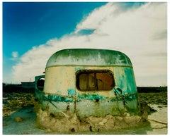 Eroded Trailer, Bombay Beach, Salton Sea, California - American Color Photograph