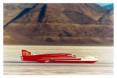 Ferguson Racing Streamliner, Bonneville, Utah - Car in Landscape Color Photo