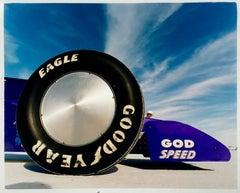 God Speed - Good Year, Bonneville, Utah - Car in Landscape Color Photography