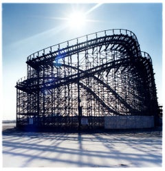 Great White Rollercoaster, Wildwood, New Jersey - Blue, Color Photography
