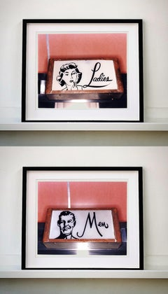 Ladies and Men, Wildwood, New Jersey - Mounted Pair - Pop Art Color Photography