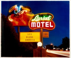 Lariat Motel II, Fallon, Nevada - Neon, Americana, Color Photography