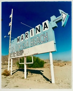 Marina Sign I, Salton Sea Beach, California