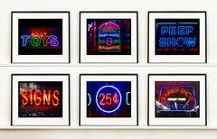 New York Neon Street Photography Set of Six Artworks
