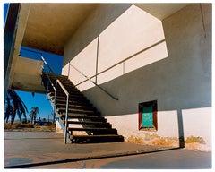 North Shore Motel Steps, Salton Sea, California - Architectural color photo