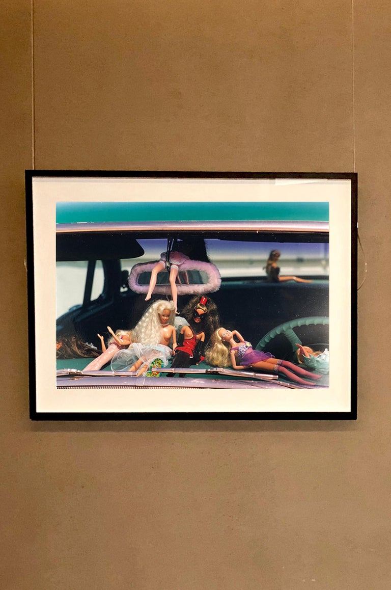 Oldsmobile & Sinful Barbie's, Las Vegas - Contemporary Color Photography - Black Portrait Photograph by Richard Heeps