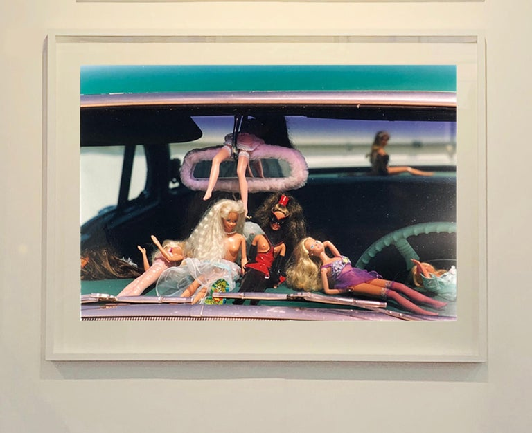 Part of Richard Heeps 'Man's Ruin' Series, and the sequence of artworks 'Wendy Flamin' Eyeball', 'Wendy Resting' & 'Oldsmobile and Sinful Barbie's' shot at the Rockabilly Weekender, Viva Las Vegas. Here this is a brilliantly adult version of the