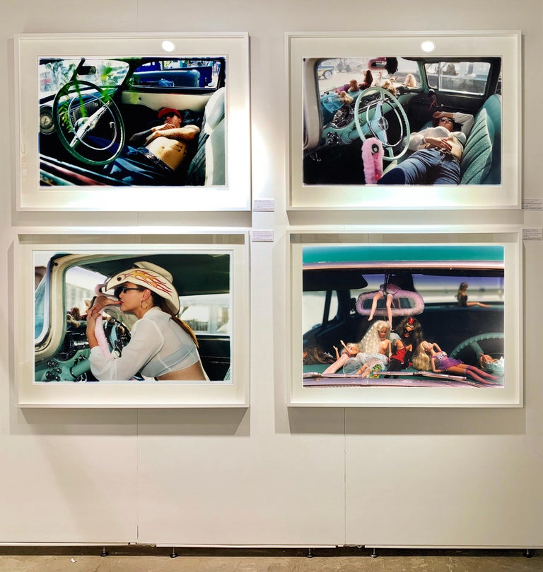 Oldsmobile & Sinful Barbie's, Las Vegas - Contemporary Color Photography For Sale 2