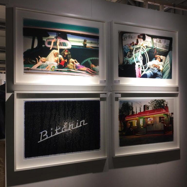 Oldsmobile & Sinful Barbie's, Las Vegas - Contemporary Color Photography For Sale 3