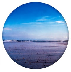 Pebbled Shore, Norfolk - Contemporary, Circle, Waterscape Photography