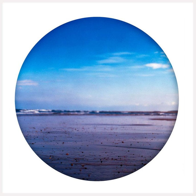 Richard Heeps Color Photograph - Pebbled Shore, Norfolk - Contemporary, Circle, Waterscape Photography