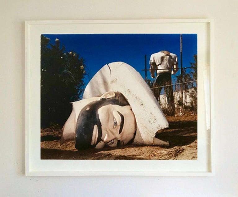 Poor Richard - Head & Torso, North Sore, Salton Sea, California - Color Photo - Contemporary Photograph by Richard Heeps