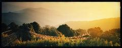 Prayer Flags, Darjeeling, - Sunrise, landscape color photography