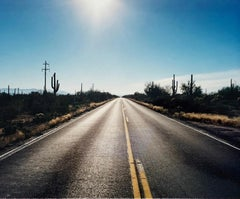 Road to Gunsight, Highway 86, Arizona - American landscape color photography