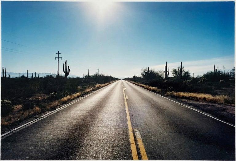 Richard Heeps Portrait Photograph - Road to Gunsight, Highway 86 Arizona - Landscape Color Photography