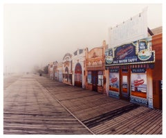 Saltwater Taffy in the Mist, Atlantic City, New Jersey - American Color Photo