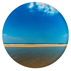 Scolt Head Yellow Sand, Norfolk - Contemporary, Circle, Waterscape Photography