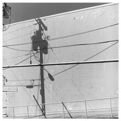 Shadow Lines, Wildwood, New Jersey - American Black and White Square Photography