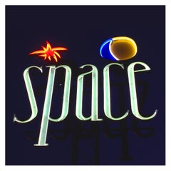 Space, Ibiza, the Balearic Islands Framed - Contemporary Colour Sign Photography