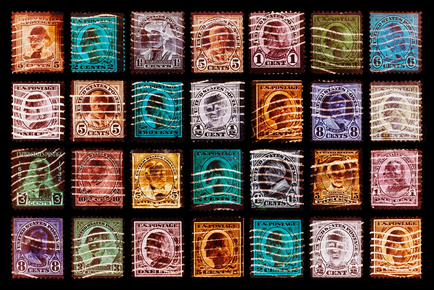 Stamp Collection, Stamped - Pop Art color photography