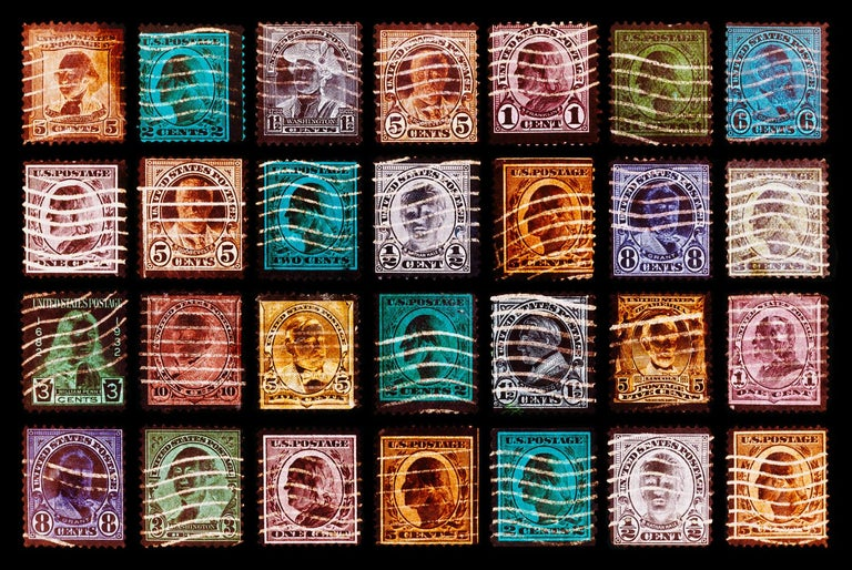 Richard Heeps Portrait Photograph - Stamp Collection, Stamped - Pop Art color photography