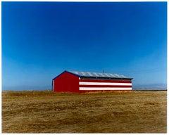 Stars & Stripes Barn, Oakhurst, California - American Color Photography