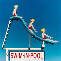 Swim-in-Pool, Las Vegas, Nevada - Americana Pop Art Color Photography
