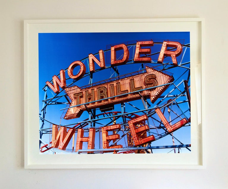 Thrills, Coney Island, New York - Architectural Pop Art Color Photography For Sale 1