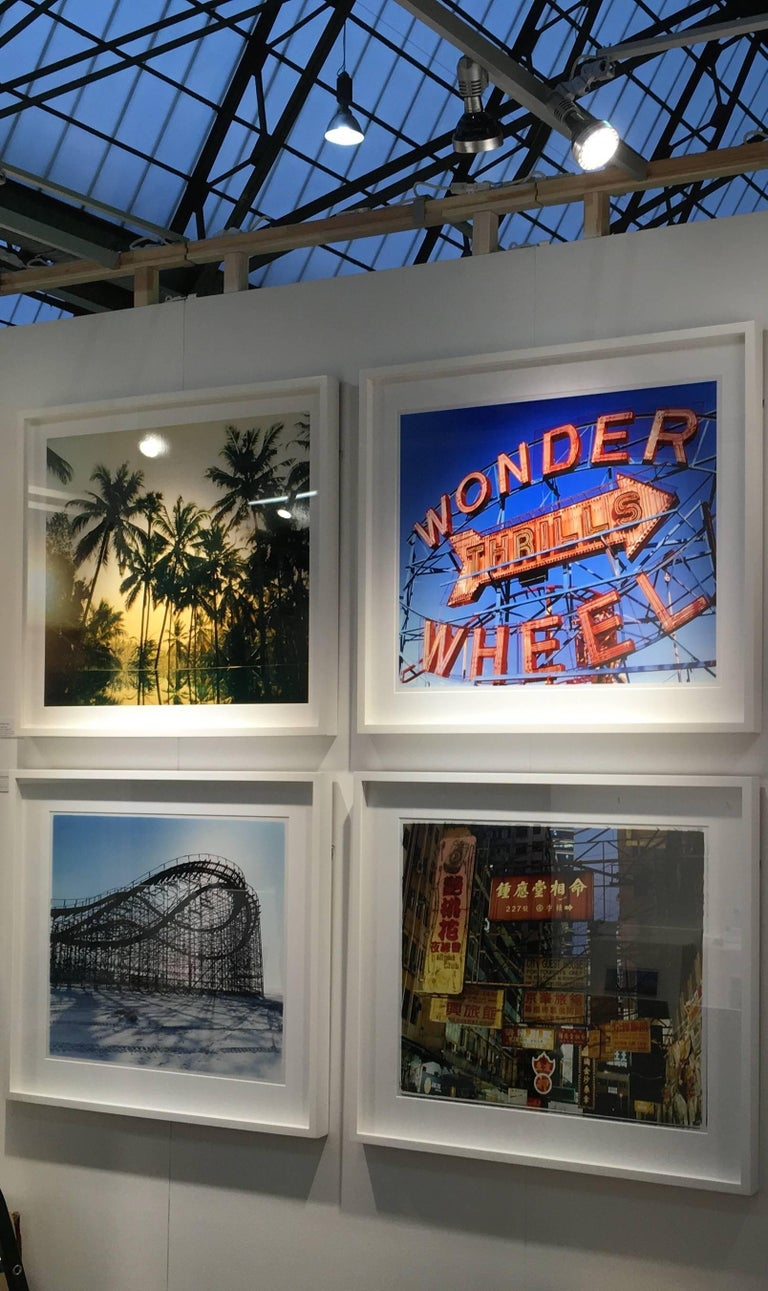 Thrills, Coney Island, New York - Architectural Pop Art Color Photography For Sale 3