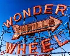 Thrills, Coney Island, New York - Architectural Pop Art Color Photography