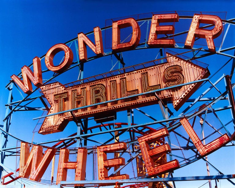 Shot in Coney Island in 2013 the iconic Wonder Wheel, a universal symbol of fun will bring a pop of colour to a room. This piece was selected for the 250th Royal Academy Summer Exhibition 2018.  This artwork is a limited edition of 10 gloss