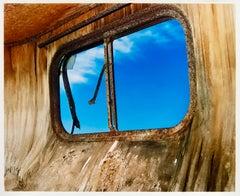 Trailer Window, Bombay Beach, Salton Sea, California - American Color Photograph