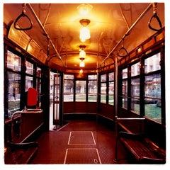 Tram, Lambrate, Milan - Vintage vehicle interior color photography