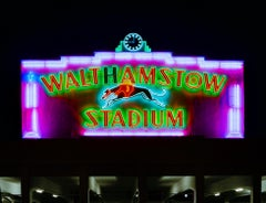 Walthamstow Stadium at Night, London - British Sign Color Photography