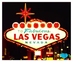 Welcome, Las Vegas, Nevada - Americana Pop Art Color Photography